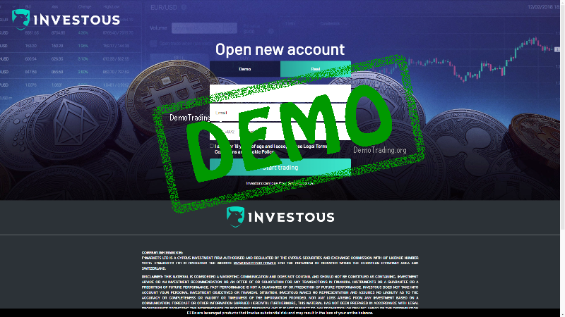 Investous Demo Forex Trading