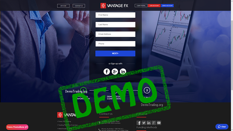 VantageFX Demo Trading Account